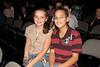 Kenzie and Jordan in their seats!