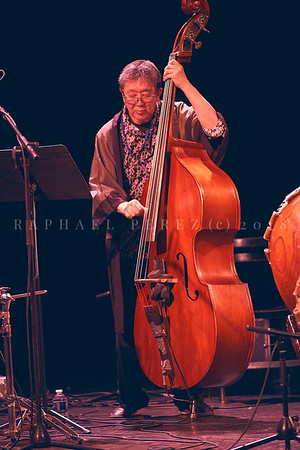 Nicole Mitchell and Black Earth ensemble, Sons d'Hiver Festival 2019 Tatsu Aoki with double bass
