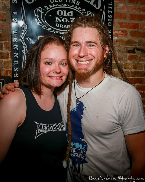 Mark Vollelunga of Nothing More posing with a fan at Trees Dallas.  6-22-2013 © 2013 Ronnie Jackson Photography