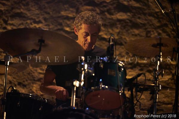 Omri Mor trio. Jazz n'Klezmer Festival 2018 Karim Ziad, drums