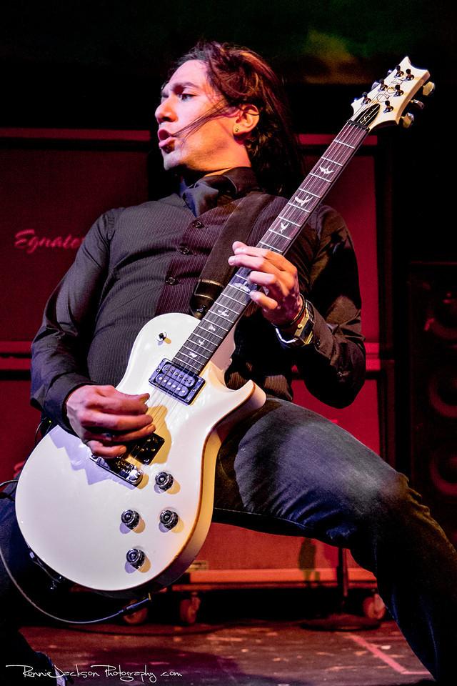 Dave Grahs of Pop Evil performing at Cancer Sucks! Handlebars and Hotrods Benefit Concert<br /> <br /> Cain's Ballroom in Tulsa Ok.<br />  5/11/2013