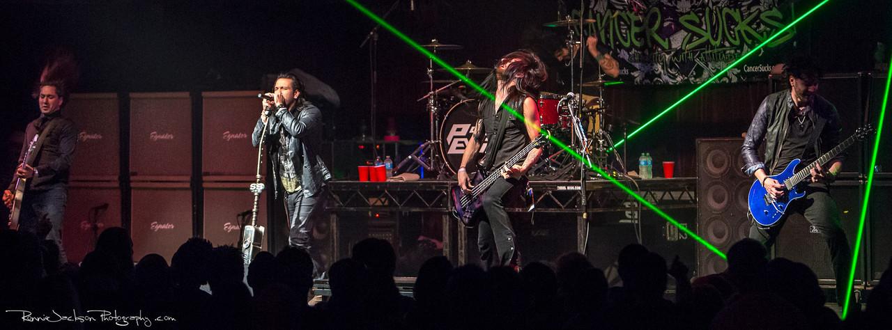Pop Evil performing at Cancer Sucks! Handlebars and Hotrods Benefit Concert<br /> <br /> Cain's Ballroom in Tulsa Ok.<br />  5/11/2013