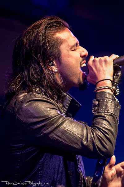 Leigh Kakaty of Pop Evil performing at Cancer Sucks! Handlebars and Hotrods Benefit Concert<br /> <br /> Cain's Ballroom in Tulsa Ok.<br />  5/11/2013