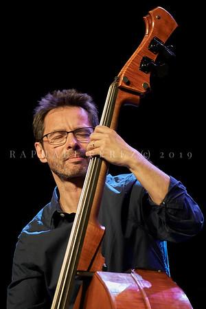 Stochelo Rosenberg Trio show in Paris. April 2019. Double bass Diego Imbert