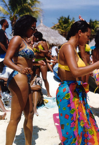 1997 Funk Festival in Aruba, host SINBAD. Voted in top 10 babes.