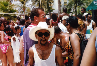 1997 Funk Festival in Aruba, host SINBAD. OKC G in da house.