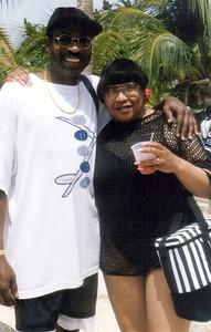 1997 Funk Festival in Aruba, host SINBAD.  Gene stays full wit Valorie.  Wicha-titty in da house.