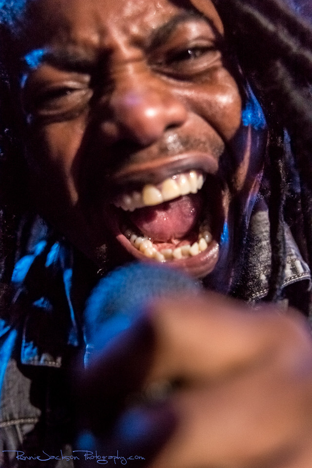 Lajon Witherspoon of Sevendust inches away from my camera.<br /> <br /> Palladium Ballroom<br /> Dallas TX<br /> 4-28-2013