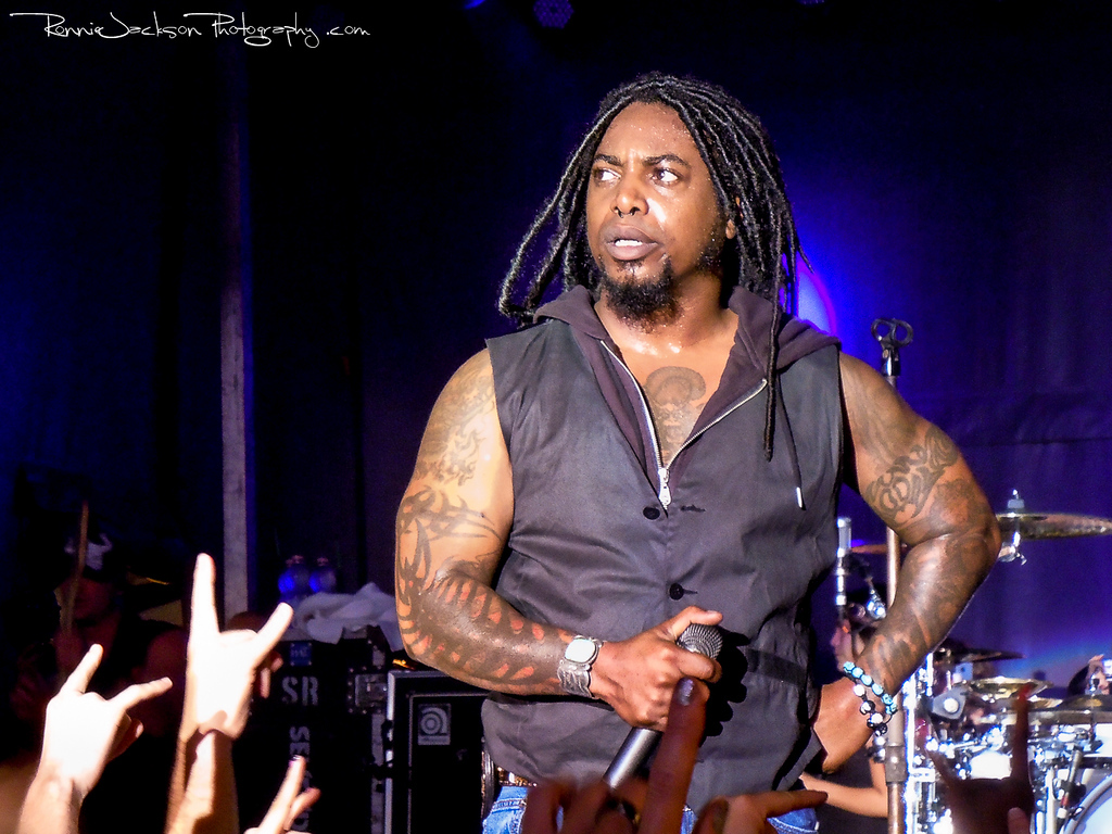 Lajon Witherspoon of Sevendust performing on Shiprocked 2012 Cruise.<br /> <br /> 11/28/2012<br /> © 2012 Ronnie Jackson Photography