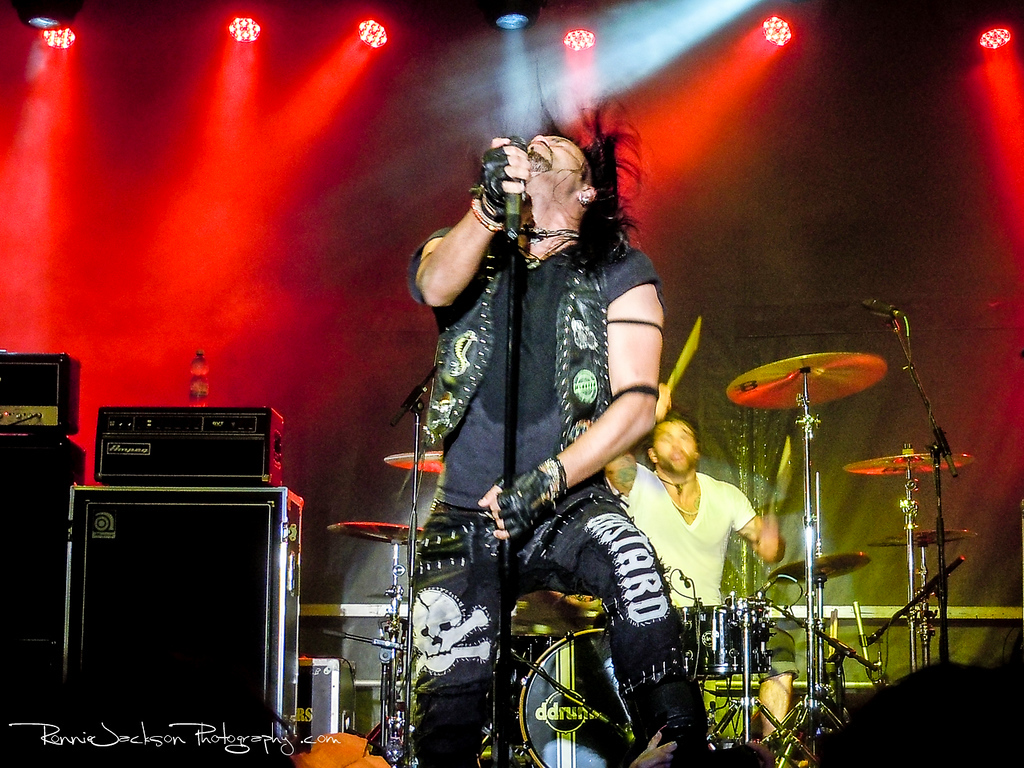 Leigh Kakaty of Pop Evil performing on Shiprocked 2012 Cruise.<br /> <br /> 11/29/2012<br /> © 2012 Ronnie Jackson Photography