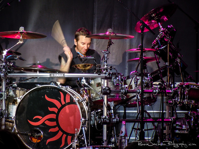 Shannon Larkin of Godsmack performing on Shiprocked 2012 Cruise.<br /> <br /> 11/27/2012<br /> © 2012 Ronnie Jackson Photography