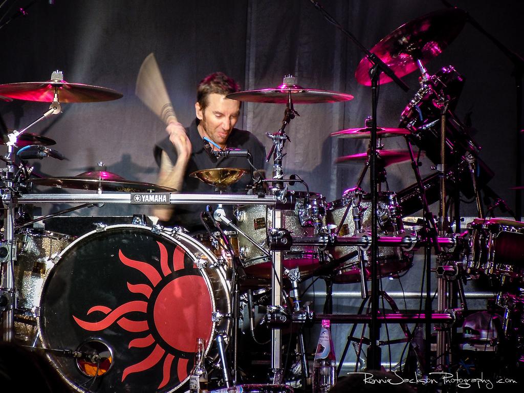 Shannon Larkin of Godsmack performing on Shiprocked 2012 Cruise.<br /> <br /> 11/27/2012<br /> © 2012 Ronnie Jackson Photography