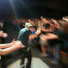 Artistic shot? ;-)  - Hawk Nelson mingling with the audience during a song