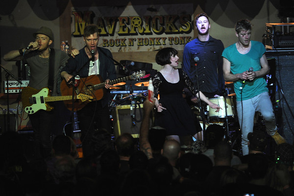 Skinny Lister did an amazing job of getting the crowd hyped as they opened the show for the Dropkick Murphys at Mavericks at the Landing in Jacksonville, FL.