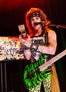 Steel Panther performs at the 1st Annual 'Lower The Bar' Awards in Los Angeles, CA. 3-27-17 (photo: Joe Lester)