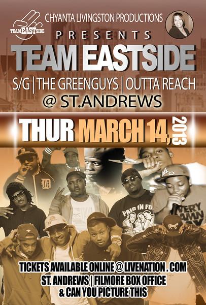Team East at St. Andrews 3-14-13 Thursday