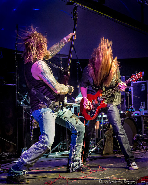 John Exall and Cord Pool of Texas Hippie Coalition performing at Cancer Sucks! Handlebars and Hotrods Benefit Concert<br /> <br /> Cain's Ballroom in Tulsa Ok.<br />  5/11/2013