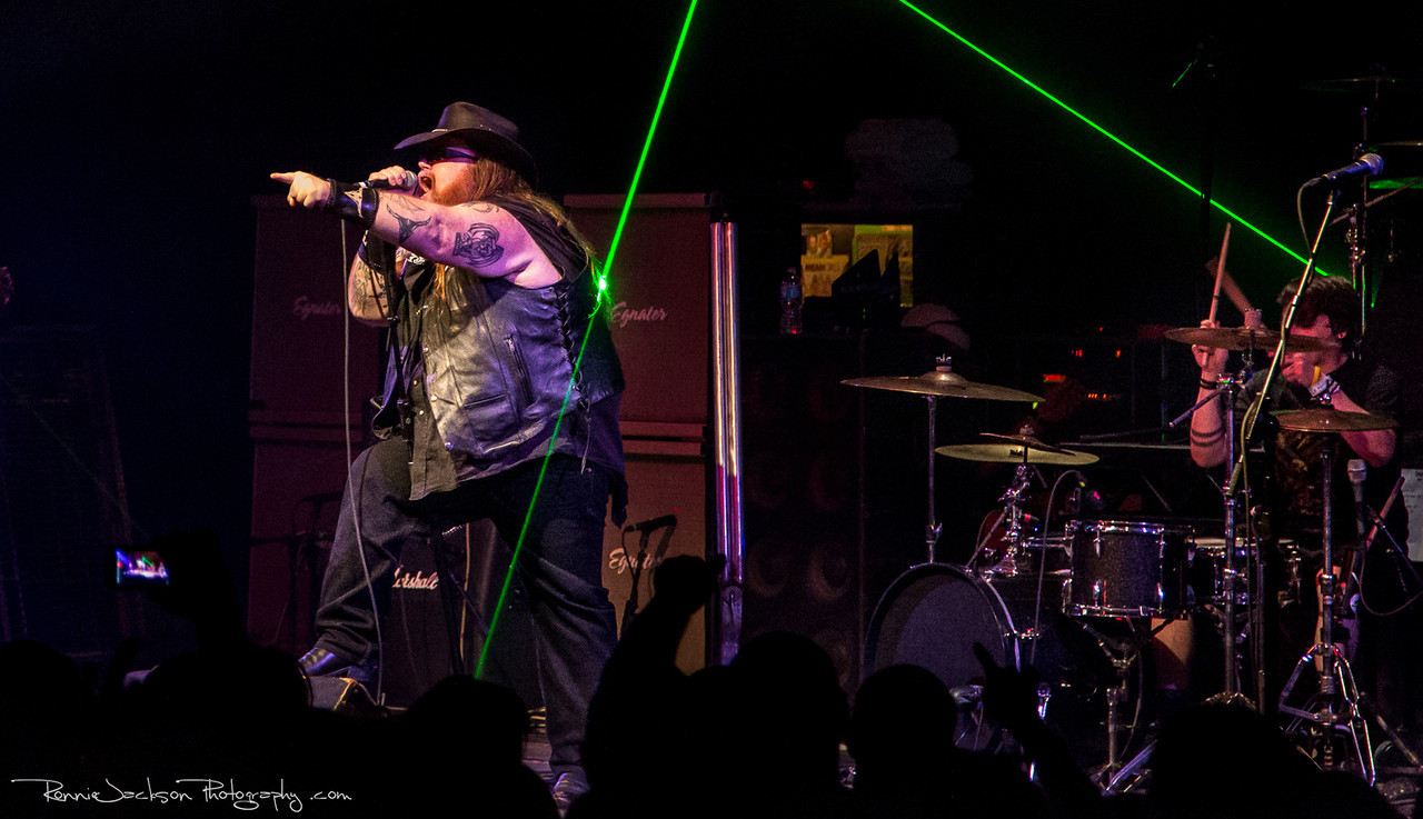 Big Dad Ritch of Texas Hippie Coalition performing at Cancer Sucks! Handlebars and Hotrods Benefit Concert<br /> <br /> Cain's Ballroom in Tulsa Ok.<br />  5/11/2013