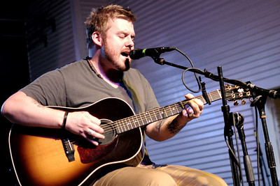 Bart Crow playing acoustic at Brewster Street Icehouse