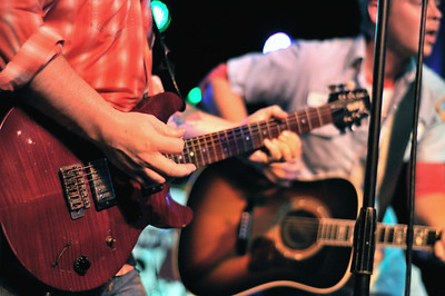 Zack Walther and the Cronkites playing at Brewster Street Icehouse in Corpus Christi, TX, Luke Leverett Guitar