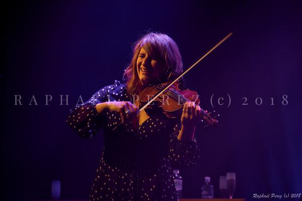 Thomas Dutronc and his Gipsy Jazz band. November 2018 Aurore Voilqué, violin