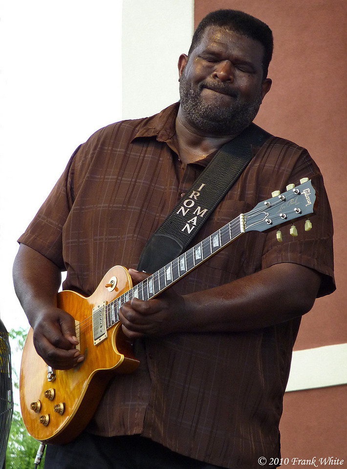 Michael Burks, taken at the Western MD Blues Festival, 2010