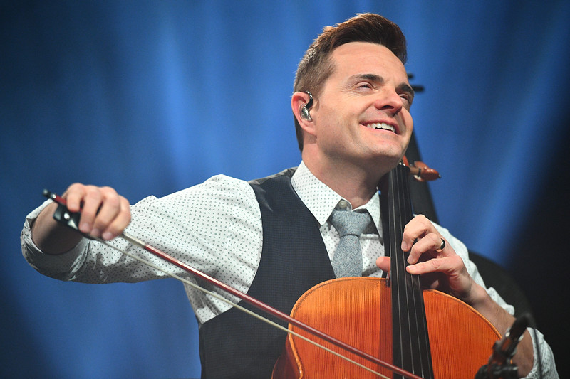 The Piano Guys Perform on stage at the America First Event Center on Thursday, February 8, 2018.