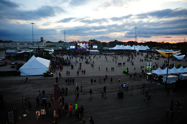 Toyota Park parking lot is converted into a second stage and vendor tents for the 1st Annual Chicago Open Air Festival. Friday, July 15th, 2016, at Toyota Park in Bridgeview. | Gary Middendorf-Chicago Tribune Media Group