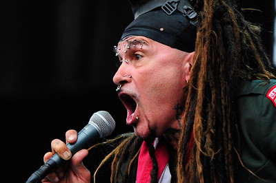 Ministry frontman Al Jourgensen performs on the main stage at the 1st Annual Chicago Open Air Festival. Friday, July 15th, 2016, at Toyota Park in Bridgeview.   Gary Middendorf-Chicago Tribune Media Group