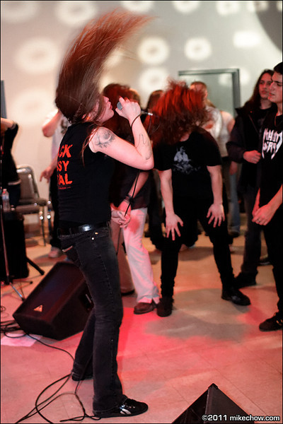 Without Mercy live at Elks Hall, Port Coquitlam BC, March 12, 2011.