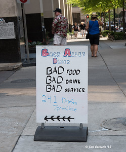 'Saw some interesting restaurant signs around Nashville. This one stands out as very clever.