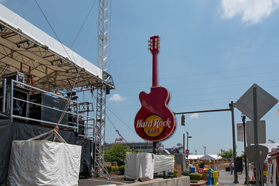 They were still setting up the Hard Rock Cafe Stage on Wednesday morning.