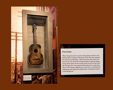 George Jones' First Guitar. On display at the George Jones Museum, Nashville, TN.