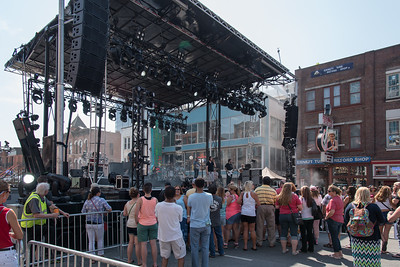 "Setting up Stage for CMA Fest Kick Off Concert. Here, Darius Rucker's Band is starting ""Sound Check"". Darius was not there."
