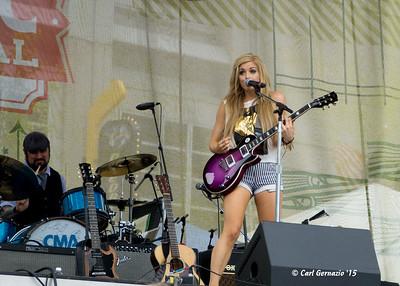Lindsay Ell on the Belk Park Stage.