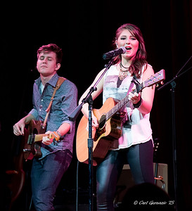 Caroline Kole with guitarist Torey Harding, at the City Winery, Nashville.