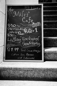 "Le Zhang ""Bon Voyage"" at Miles' Cafe, NYC"
