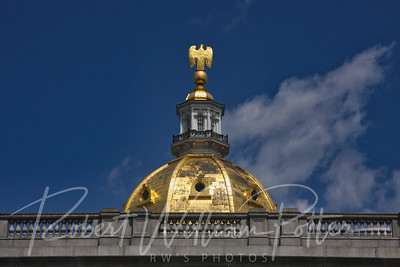 9685-Golden Eagle on a Golden Dome