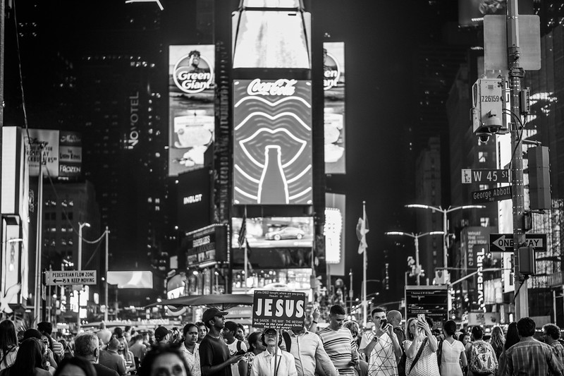 2019 06-NYC-Peeples-Jesus in Times Square