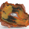 #1735 Condor Agate, San Rafael, Mendoza province, Argentina<br /> Outstanding for the clarity of the bands in an area of chromatography, intense and very rich. This and others from this location have fine reddish skins.<br /> 8 x 5 x 4.5 cm     229 g<br /> $180