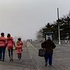 Brighton beach boardwalk at christmas day