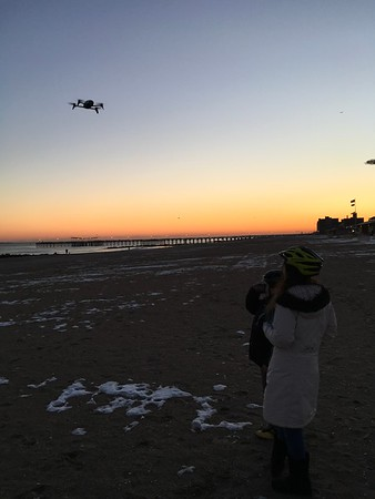 Coney Island flying Daniels Drone ! Nice !