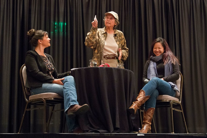 Sisters of the Soil Keynote address, with Nicole Masters, Betsy Ross, and Christine Su.