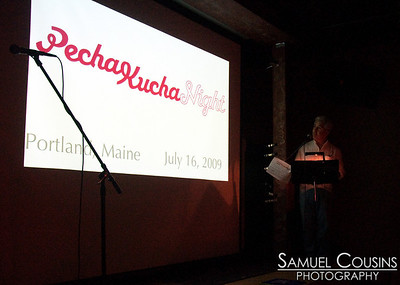 Pecha Kucha, at Space Gallery.