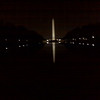 Sorry this is a little blurry. Its taken with a camera phone. It was a really nice night in DC. The water in the reflecting pool was completely calm.
