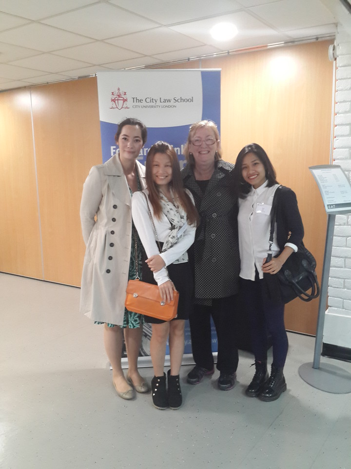 Ann with co-presenters, lawyers from Herbert Smith Freehills and DLA PIPER with Hien, BABSEA CLE volunteer.
