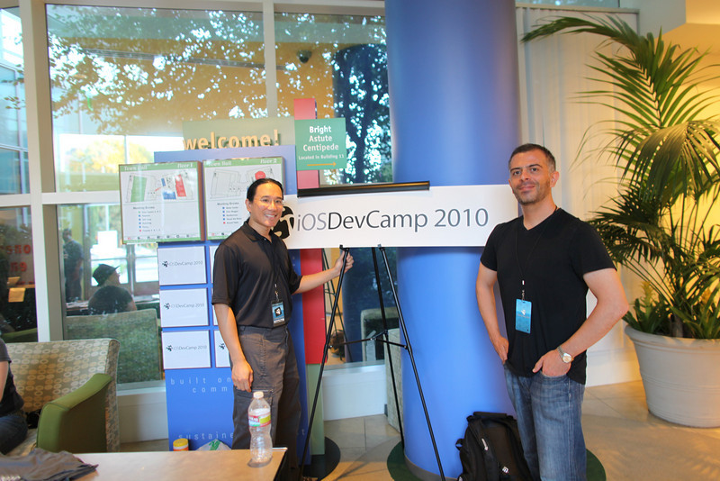 Adam and Ivan at iOSDevCamp. We worked on the Autumn Gem Preview app at iPadDevCamp in April.