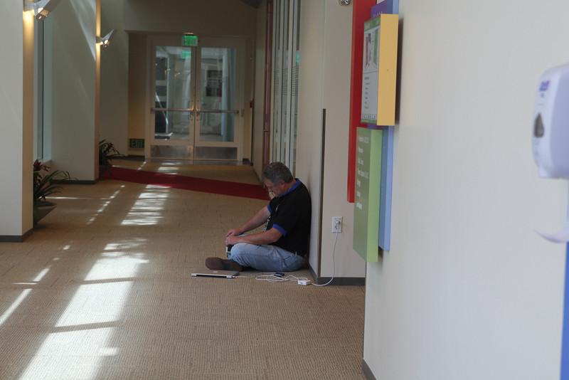 Coding in the hallways.