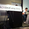 Demoing at iOSDevCamp.