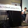 Demoing at iOSDevCamp.